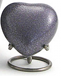 Soft Lilac Brass Heart Keepsake Urn