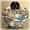 Aura Art Glass Small Cremation Urn