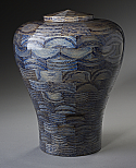 Oceanic Blue Wood Cremation Urn