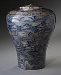 Oceanic Blue Wood Cremation Urn