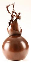 Dance of Life Wood Finish Cremation Urn