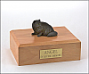 Persian, Black Sitting Cat Figurine Cremation Urn