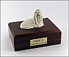 Maltese Laying Dog Figurine Cremation Urn