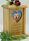Heart Photo Rainbow Bridge Pet Urn