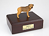 Bull Mastiff Yellow Standing Dog Figurine Cremation Urn