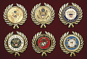 Military Service Appliques - Wreath