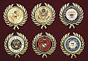 Military Service Appliques - Wreath