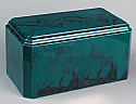Windsor Forest Green Cultured Marble Cremation Urn