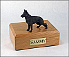 German Shepherd  Black  Dog Figurine Cremation Urn