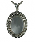 Oval Glass locket Pendant Urn