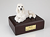 Poodle, White Dog Figurine Cremation Urn