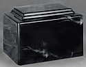 York Black Cultured Marble Cremation Urn