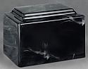 York Black Cultured Marble Cremation Urn