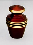 Crimson Brass Keepsake Cremation Urn