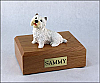 Westie Dog Figurine Cremation Urn