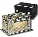Silver-Gold Rectangle Urn