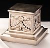 Roman Brushed Nickel Cremation Urn