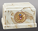 US Army Cultured Marble Cremation Urn