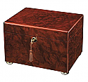 Dark Burl Memory Chest Cremation Urn