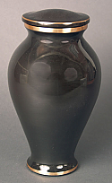 Ebony and Gold Bronze Cremation Urn