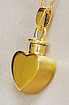 Gold Heart Cremation Urn Keepsake