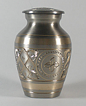 Platinum and Gold Brass Keepsake Urn