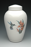 The Color Hummingbird Cremation Urn