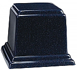 Large Square Cultured Granite Cremation Urn