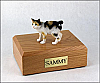 Japanese Bobtail, Tort-White Cat Figurine Cremation Urn