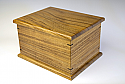 Figured Koa Chest Cremation Urn