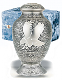 Silver Eagle Cremation Urn and Case