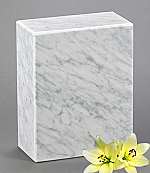 White Marble Adult Cremation Urn