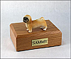 Lhasa Apso, Brown, Puppycut  Dog Figurine Cremation Urn