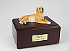 Golden Retriever Laying White Belly Cremation Urn