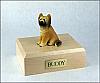 Briard Yellow Sitting Dog Figurine Cremation Urn