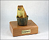 Pomeranian Dog Figurine Cremation Urn