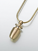 14K Gold Cremation Urn Keepsake Pendant