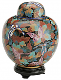 Small Butterfly Garden Cloisonne Cremation Urn