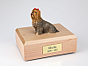 Yorkshire Terrier, Brown Dog Figurine Cremation Urn