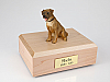 Border Terrier Dark Golden Sitting Dog Figurine Cremation Urn