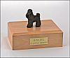 Poodle, Black Standing Dog Figurine Cremation Urn