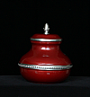 Pewter Burgundy Thea Cremation Urn