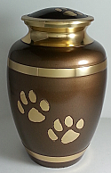Gold Paws Pet Cremation Urn