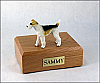 Wire-Haired Fox Terrier Dog Figurine Cremation Urn