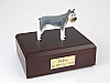 Schnauzer Giant, Gray Dog Figurine Cremation Urn