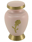 Gold Rose Brass Keepsake Cremation Urn
