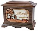 Golfer Wood Cremation Urn