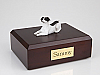 Jack Russell Terrier, White-Black Dog Figurine Cremation Urn