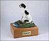 Pointer, Black-White Dog Figurine Cremation Urn