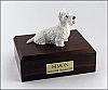 Scottish Terrier, White Dog Figurine Cremation Urn
